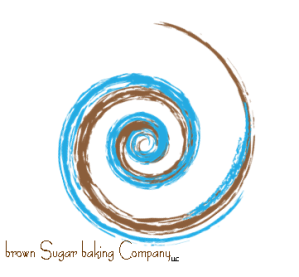 Brown Sugar Baking Swirl Logo with LLC